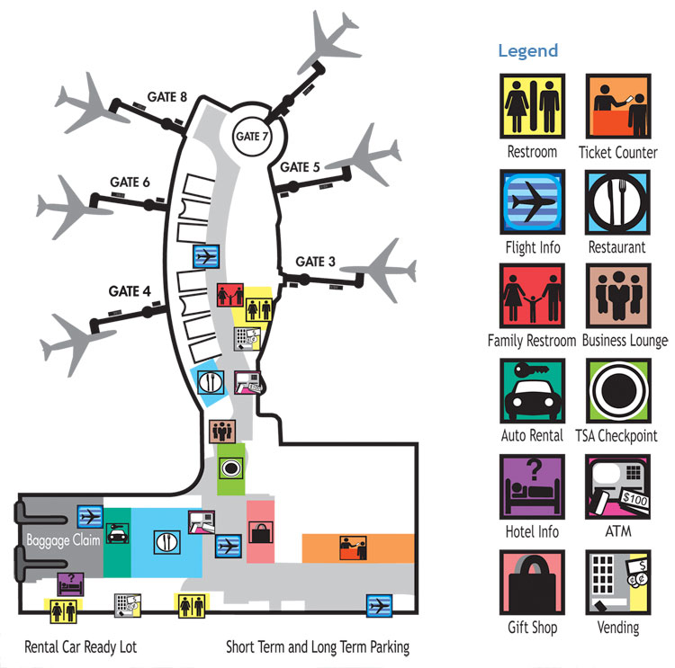 TerminalMap Appleton International Airport ATW